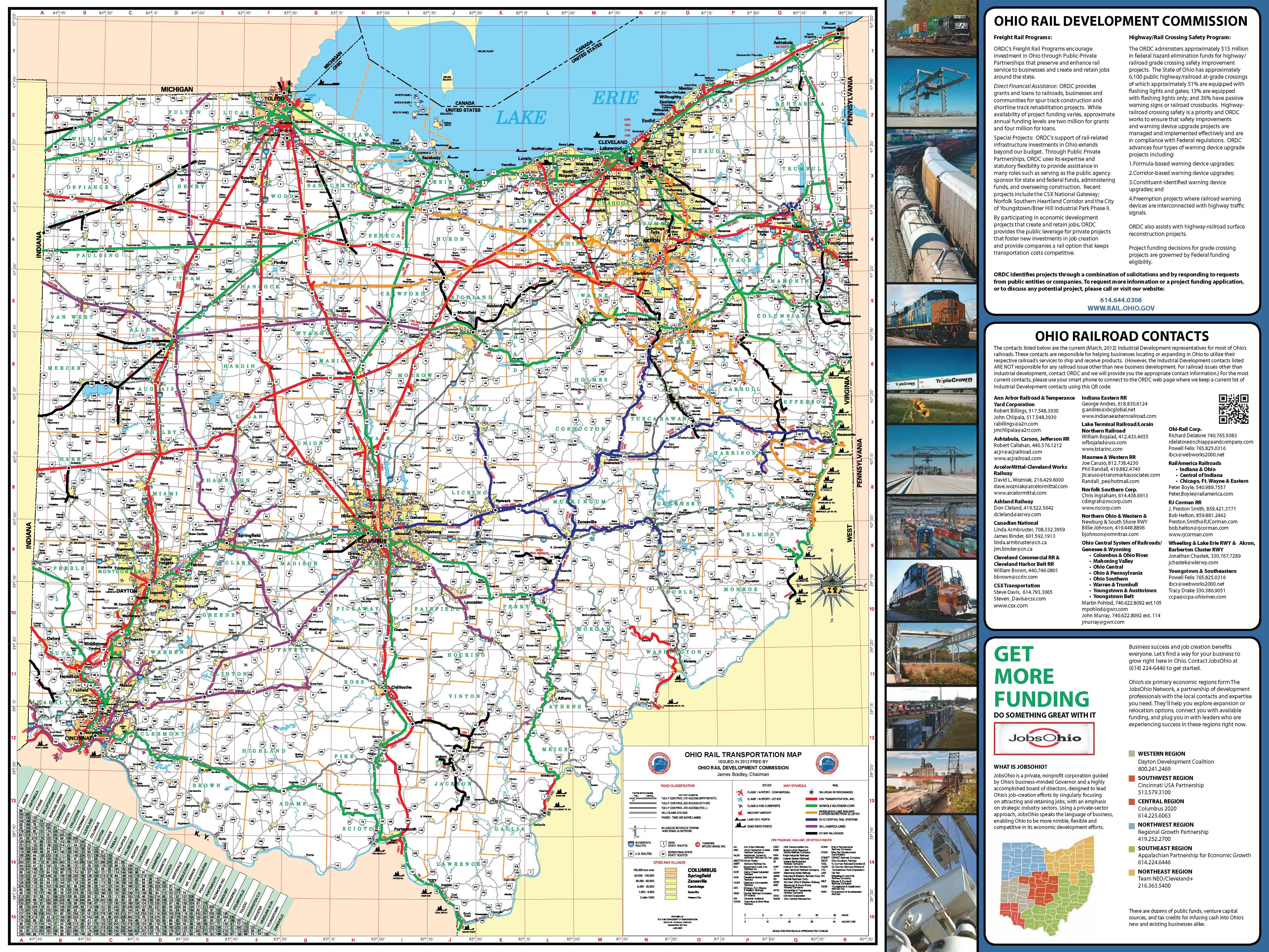Ohio Rail Transportation Map