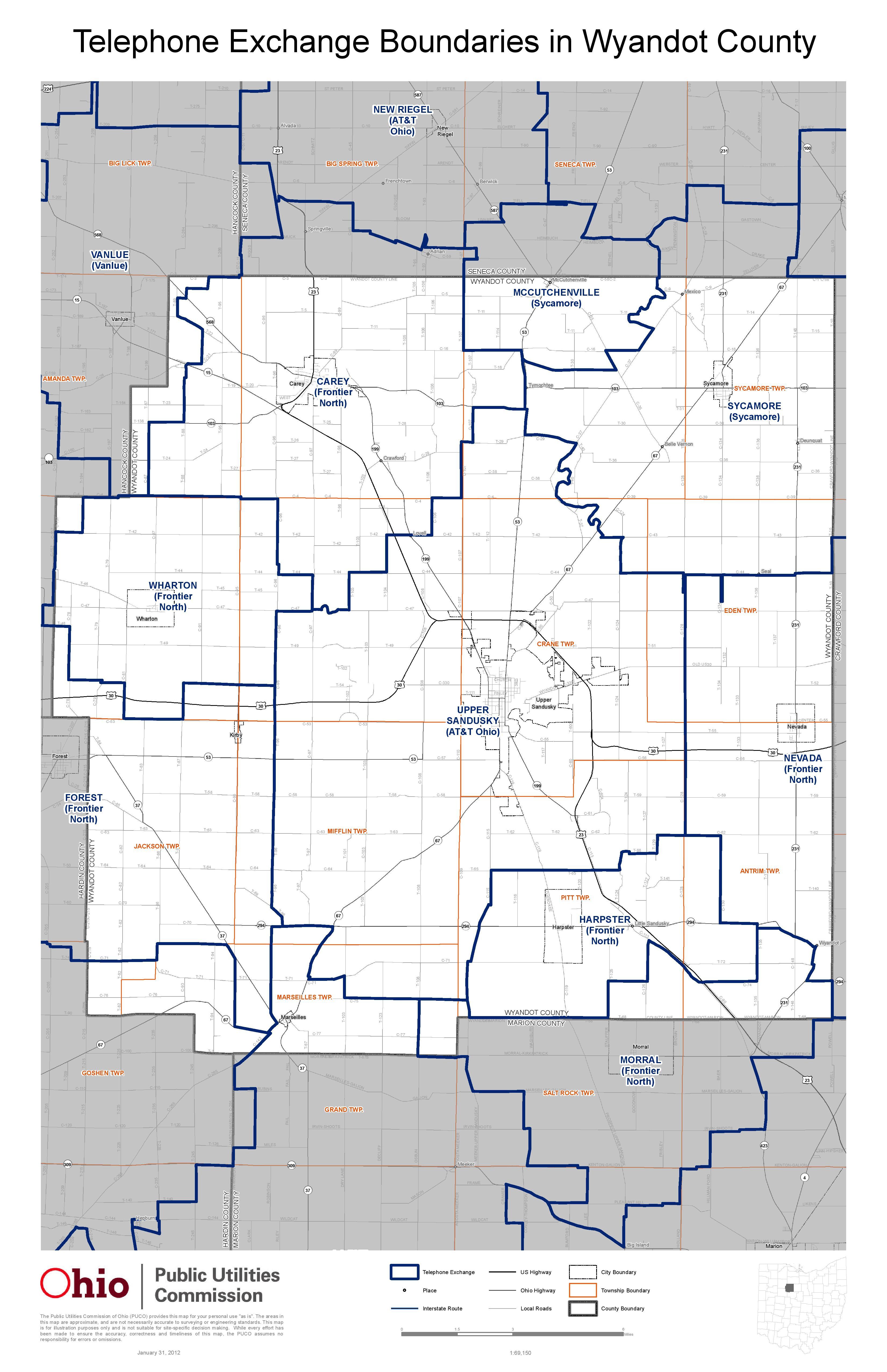 Map Center Wyandot County Economic Development