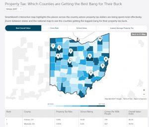 SmartAsset Tax Comparison Map