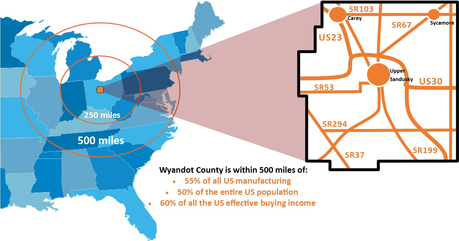 Wyandot County Geographic Location